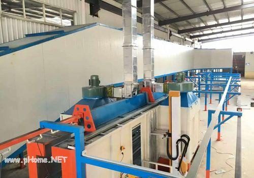 阆中东升公司涂装线排风系统展示